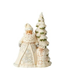 Jim Shore White Woodland Santa w/ Tree