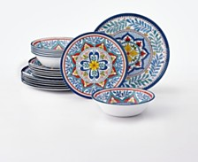Certified International Capri Isle 12-Pc. Melamine Dinnerware Set, Service for 4
