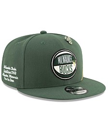 New Era Big Boys Milwaukee Bucks 2019 On-Court Collection 9FIFTY Snapback Cap