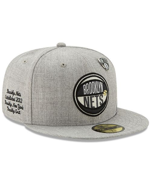 41005d2ff Brooklyn Nets 2019 On-Court Collection 59FIFTY Fitted Cap