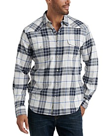 Men's Santa Fe Regular-Fit Plaid Western Shirt