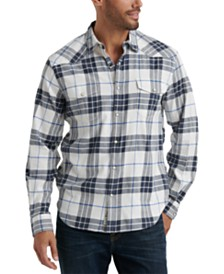 Lucky Brand Men's Santa Fe Regular-Fit Plaid Western Shirt