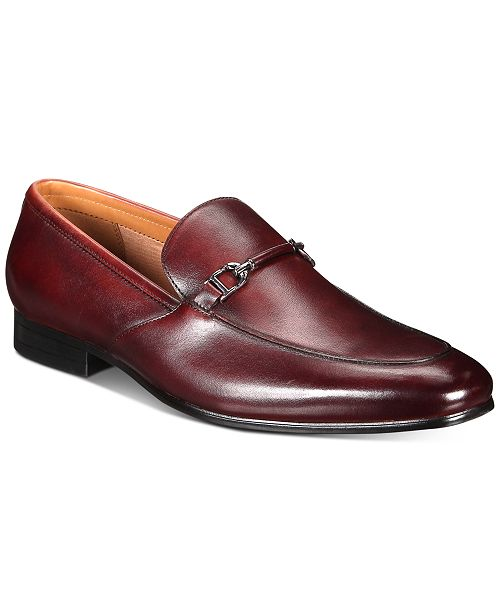 Alfani Men's Leather Truman Slip-On Loafers, Created for Macy's