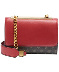 DKNY Cooper Heritage Logo Flap Leather Crossbody, Created for Macy's