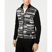 Deals on Alfani Mens Gray Matters Full-Zip Jacket