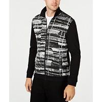 Deals on Alfani Mens Gray Matters Full-Zip Jacket