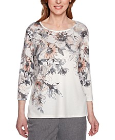 Boardroom Printed Embellished Top