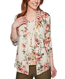 Cedar Canyon Floral Layered-Look Necklace Top