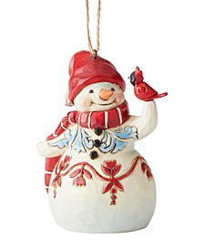 Jim Shore Mini Red & White Snowman Ornament