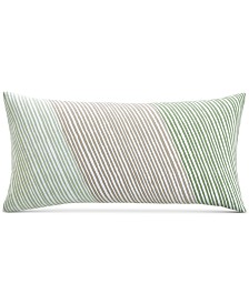 """Charter Club Damask Designs Diagonal Stripe 12"""" x 24"""" Decorative Pillow, Created for Macy's"""