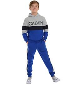Calvin Klein Jeans Big Boys Rugby Side Stripe Fleece Joggers