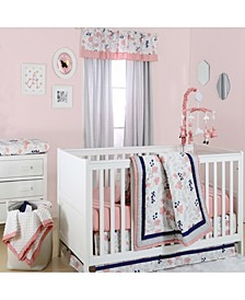 Floral Dot 4-Piece Crib Bedding Set