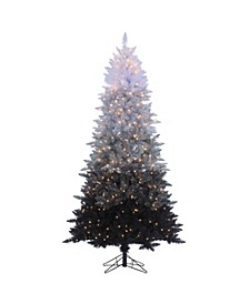 7.55Ft. Vintage Black Ombre Spruce with 600 clear lights
