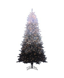 Sterling 7.55Ft. Vintage Black Ombre Spruce with 600 clear lights
