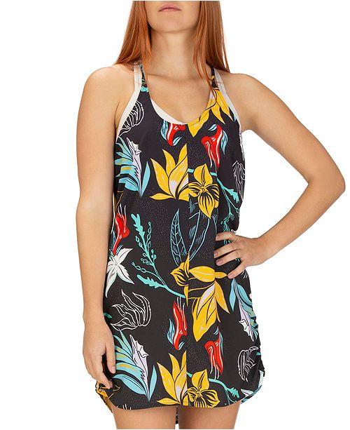 Hurley Juniors' Coastal Domino Floral-Print Dress