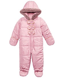 Baby Girls Bow Snowsuit, Created for Macy's