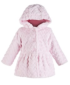 Baby Girls Heart Plush Coat, Created for Macy's
