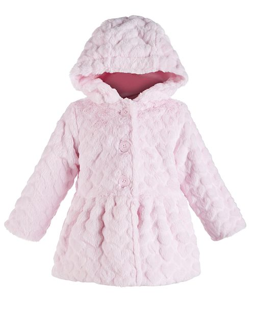 First Impressions Toddler Girls Hooded Faux-Fur Jacket, Created for Macy's