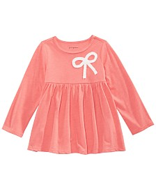First Impressions Toddler Girls Long Sleeve Bow Tunic, Created for Macy's