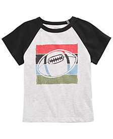 First Impressions Baby Boys Football-Print T-Shirt, Created for Macy's