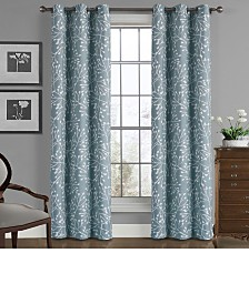 """Universal Home Fashions Branches Crushed Microfiber Panel, 40"""" x 84"""""""
