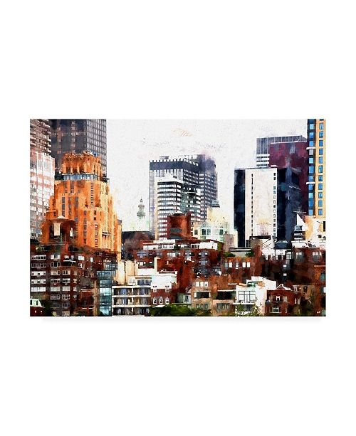 "Trademark Global Philippe Hugonnard New York Architectural Display Canvas Art - 19.5"" x 26"""