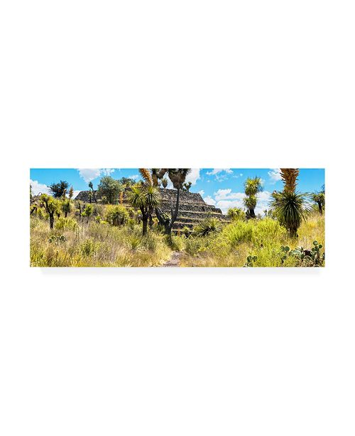 "Trademark Global Philippe Hugonnard Viva Mexico 2 Pyramid of Cantona Archaeological Site Canvas Art - 19.5"" x 26"""