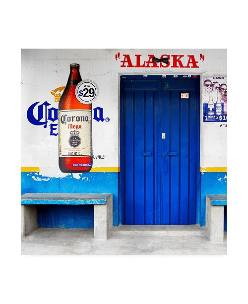 "Trademark Global Philippe Hugonnard Viva Mexico 3 ALASKA Blue Bar Canvas Art - 15.5"" x 21"""