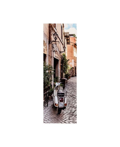 "Trademark Global Philippe Hugonnard Dolce Vita Rome 2 Italian Scooter in Street IV Canvas Art - 15.5"" x 21"""