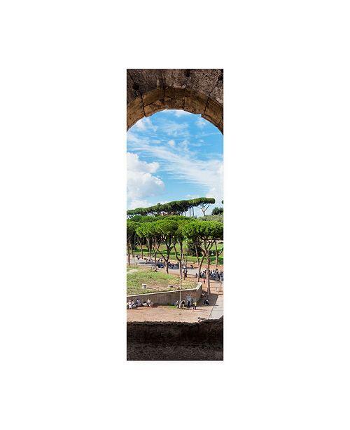 "Trademark Global Philippe Hugonnard Dolce Vita Rome 2 Colosseum Arches Canvas Art - 36.5"" x 48"""