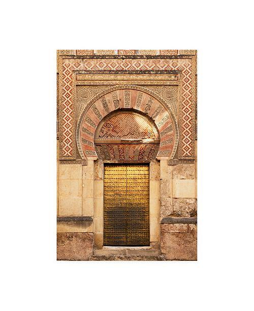 """Trademark Global Philippe Hugonnard Made in Spain Golden Mezquita Door Canvas Art - 15.5"""" x 21"""""""