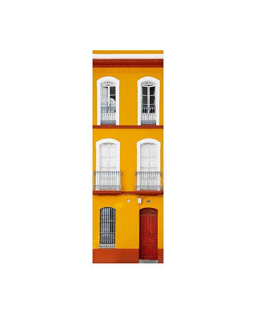 """Trademark Global Philippe Hugonnard Made in Spain 2 Orange Facade of Traditional Spanish Building Canvas Art - 15.5"""" x 21"""""""