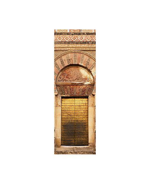 """Trademark Global Philippe Hugonnard Made in Spain 2 Golden Mezquita Door Canvas Art - 36.5"""" x 48"""""""
