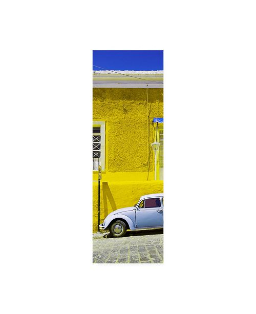 "Trademark Global Philippe Hugonnard Viva Mexico 2 VW Beetle Car and Yellow Wall Canvas Art - 36.5"" x 48"""