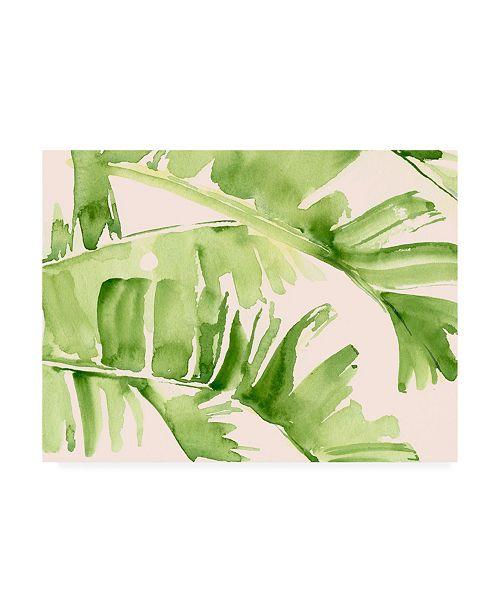 "Trademark Global Jennifer Paxton Parker Peachy Palms I Canvas Art - 27"" x 33.5"""