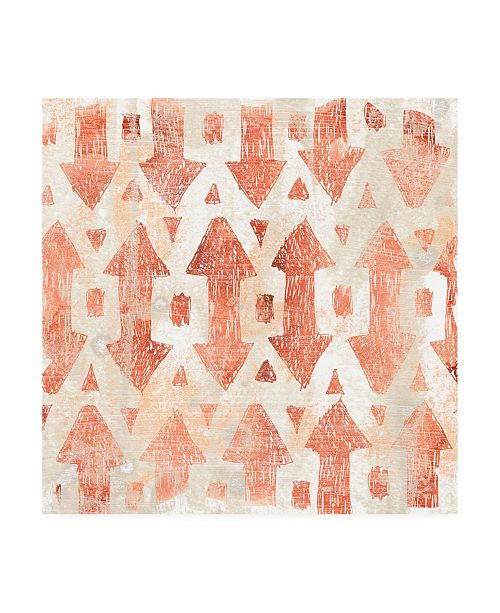 "Trademark Global June Erica Vess Red Earth Textile III Canvas Art - 15.5"" x 21"""