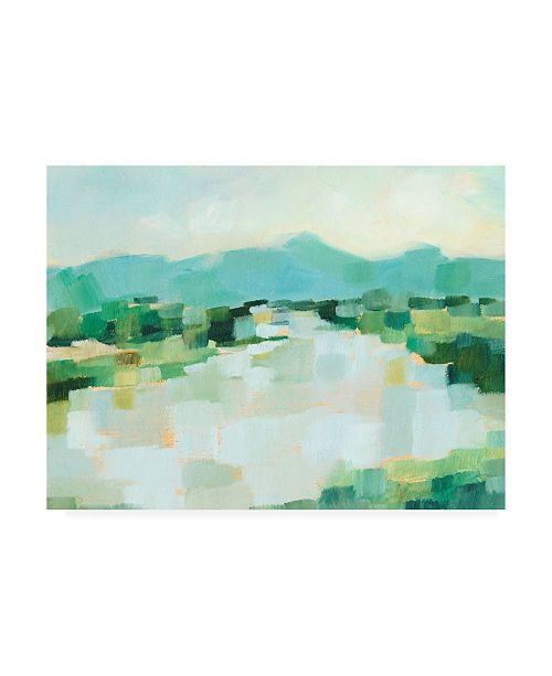 "Trademark Global Ethan Harper Emerald Island II Canvas Art - 15.5"" x 21"""