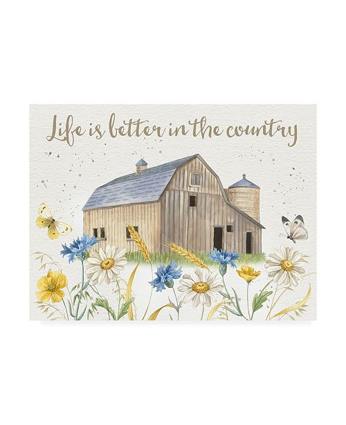 "Trademark Global Jane Maday Nostalgic Farm I Canvas Art - 15.5"" x 21"""