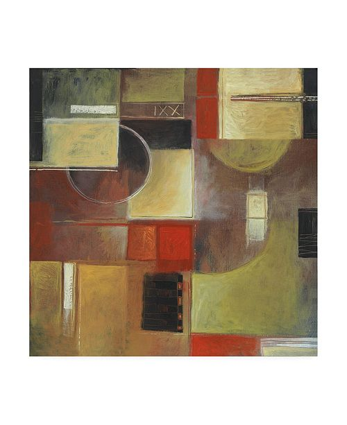 "Trademark Global Pablo Esteban Circles and Squares Canvas Art - 36.5"" x 48"""