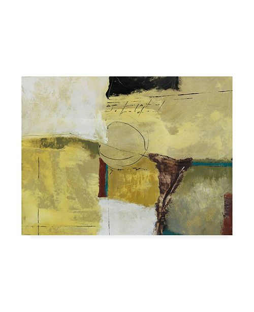"Trademark Global Pablo Esteban Yellow with Scratches Canvas Art - 36.5"" x 48"""