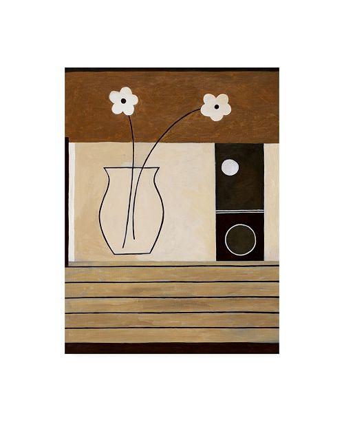 "Trademark Global Pablo Esteban Flowers in Glass Vase on Wood Canvas Art - 15.5"" x 21"""
