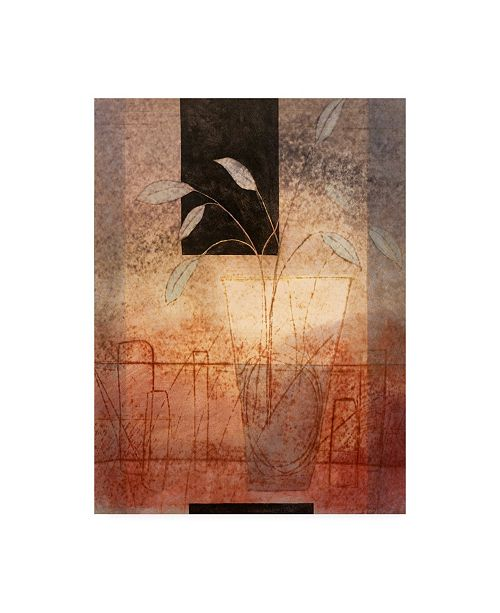 "Trademark Global Pablo Esteban White Leaves in Vase Canvas Art - 27"" x 33.5"""