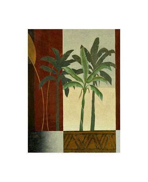 "Trademark Global Pablo Esteban Palm Trees on Balcony Canvas Art - 19.5"" x 26"""