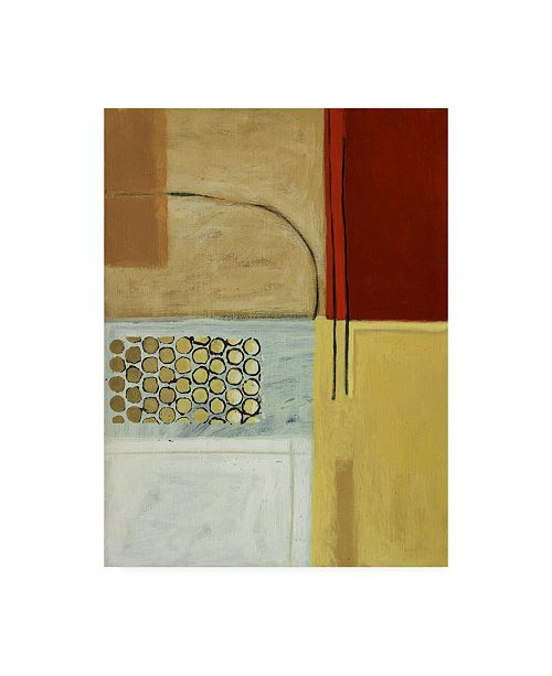"Trademark Global Pablo Esteban Squares with Gold Circles Canvas Art - 19.5"" x 26"""