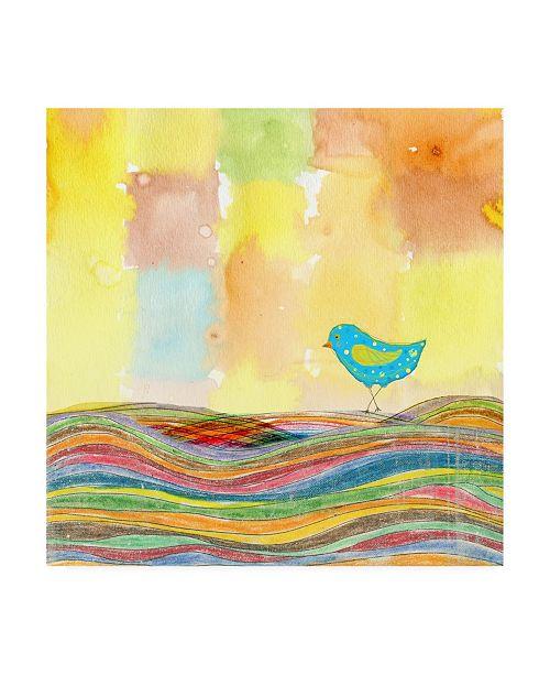 "Trademark Global Ingrid Blixt Feathers, Dots and Stripes IX Childrens Art Canvas Art - 15.5"" x 21"""