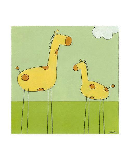 """Trademark Global June Erica Vess Stick leg Giraffe I Childrens Art Canvas Art - 36.5"""" x 48"""""""