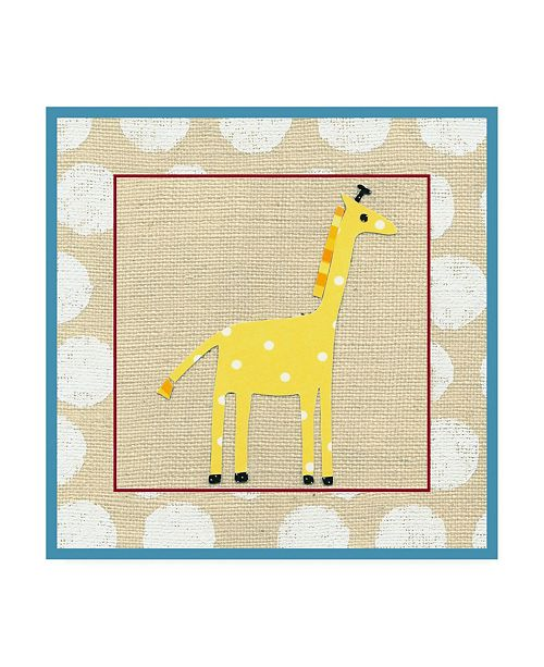 "Trademark Global Chariklia Zarris Katherines Giraffe Childrens Art Canvas Art - 15.5"" x 21"""