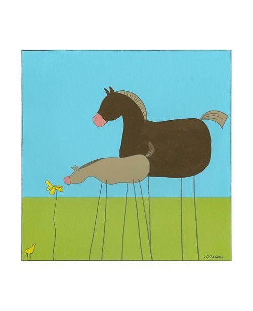 """Trademark Global June Erica Vess Stick leg Horse II Childrens Art Canvas Art - 19.5"""" x 26"""""""