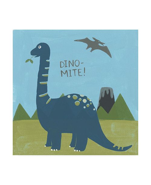 "Trademark Global June Erica Vess Dino mite II Canvas Art - 19.5"" x 26"""