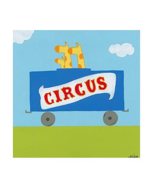 "Trademark Global June Erica Vess Circus Train II Canvas Art - 36.5"" x 48"""